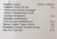 Sables citron - Informations nutritionnelles - fr
