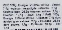 wrap poulet boursin - Voedingswaarden - fr