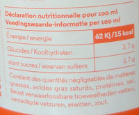 Hydrolade Pomme + Géranium - Voedingswaarden - nl