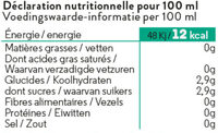Simone a soif - Nutrition facts - fr