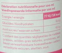 Fraise + Mélisse - Voedingswaarden