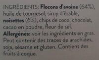 Granola au chocolat noir et fleur de sel - Ingredients - en