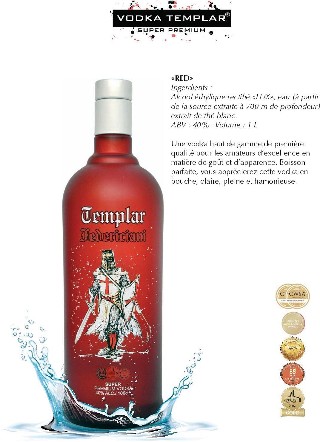 Vodka Templar Red - Product - fr