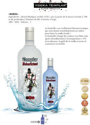 Vodka Templar White - Product - fr