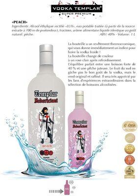 Vodka Templar Peach - Product - fr