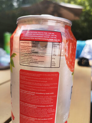 Pacha Drink Strawberry - Valori nutrizionali - fr