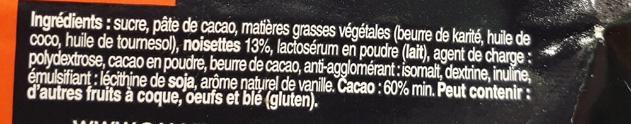 Praliné noir - Ingrédients - fr
