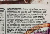 McCormick mermelada frutos rojod - Ingredients