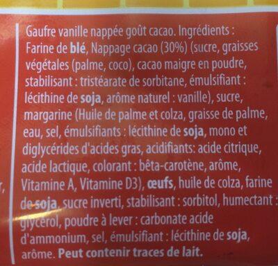 Gaufre Choco 70G 1 Pièce - Ingrédients - fr