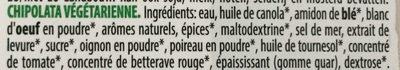 Saucisses végétales - Ingrédients - fr