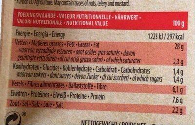 Saucisses végétales - Informations nutritionnelles - fr