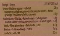 Snacking balls natural - Informations nutritionnelles - fr