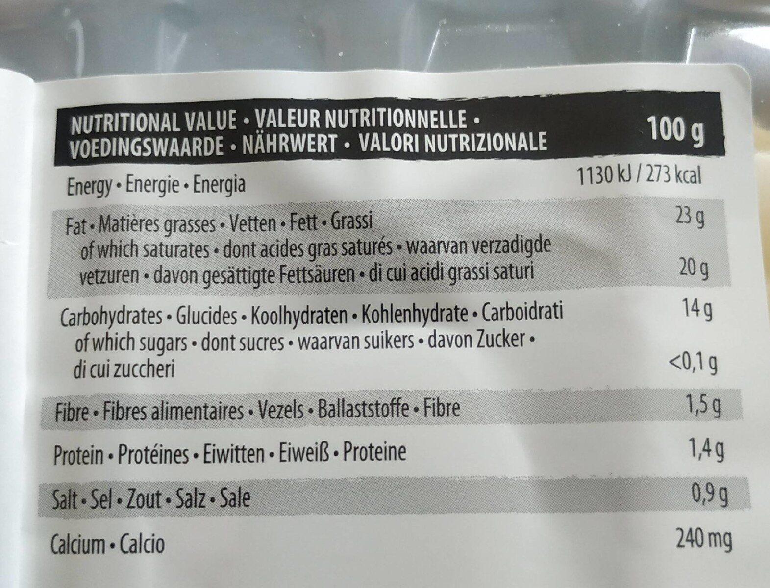 VEGAN Deli smoked - Nutrition facts - fr