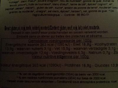 Cordon bleu végétal - Informations nutritionnelles - fr