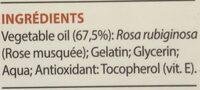 Capsules Rose musquée du Chili - Ingrédients