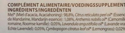 Pranarom Miel - Ingrédients - fr