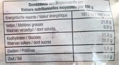 Gaufre Chasse - Nutrition facts - fr