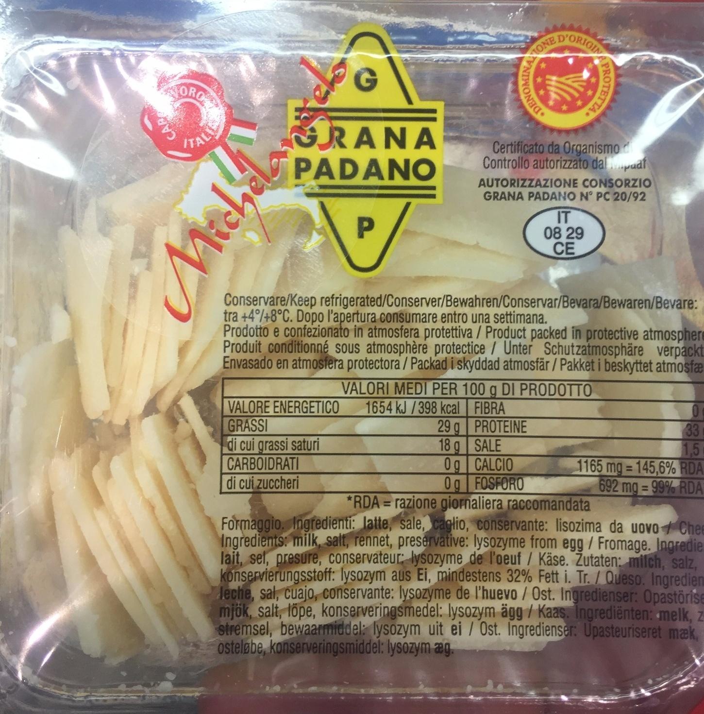 Grana Padano D.O.P. (29 % MG) - Product - fr