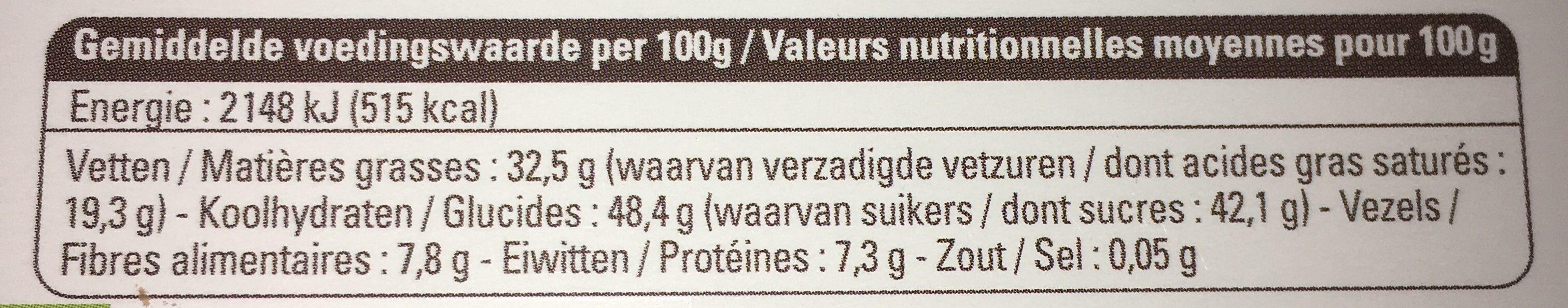 Ethiquable Noir Orange - Nutrition facts - fr