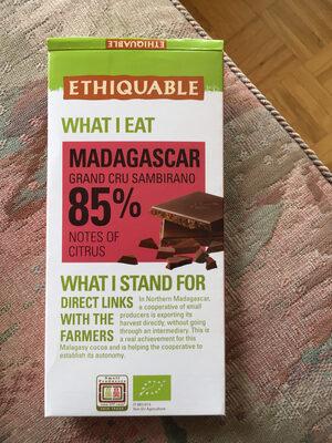 Ethiquable 85% Madagascar Cacao Grand Cru Sambirano - Product - fr
