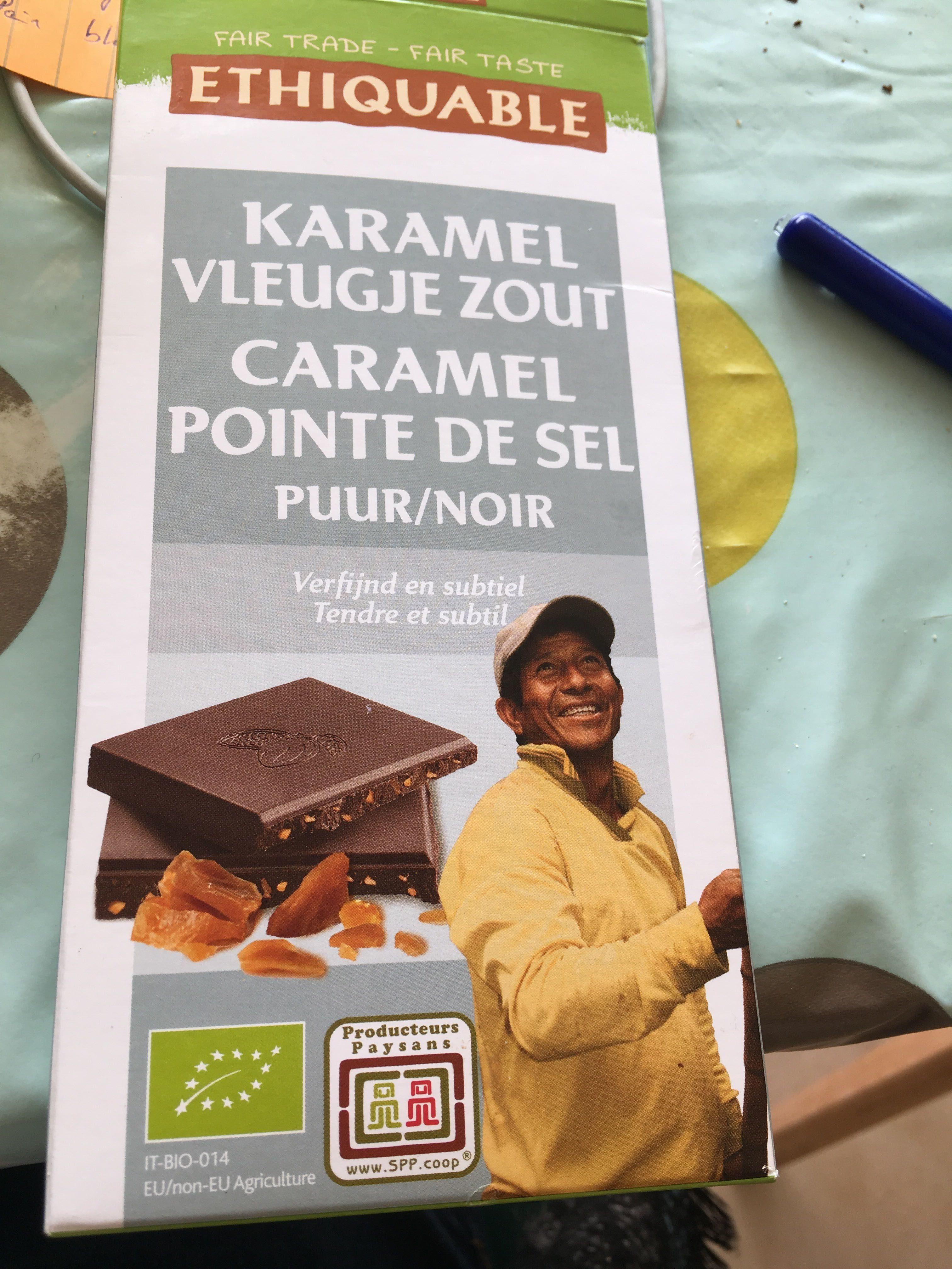 Chocolat pur noir caramel et pointes de sel - Product