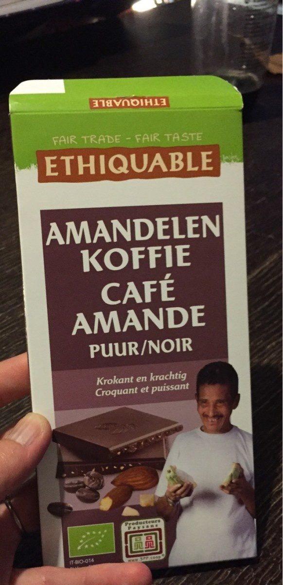Dark chocolate coffee almond - Product - fr