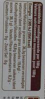 Dark chocolate coffee almond - Voedingswaarden - fr