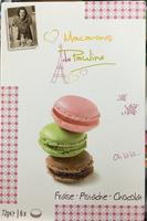 Macarons Fraise - Pistache - Chocolat - Produit - fr
