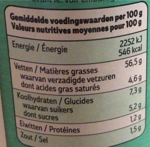 EXTRA TARATARE - Voedingswaarden - fr