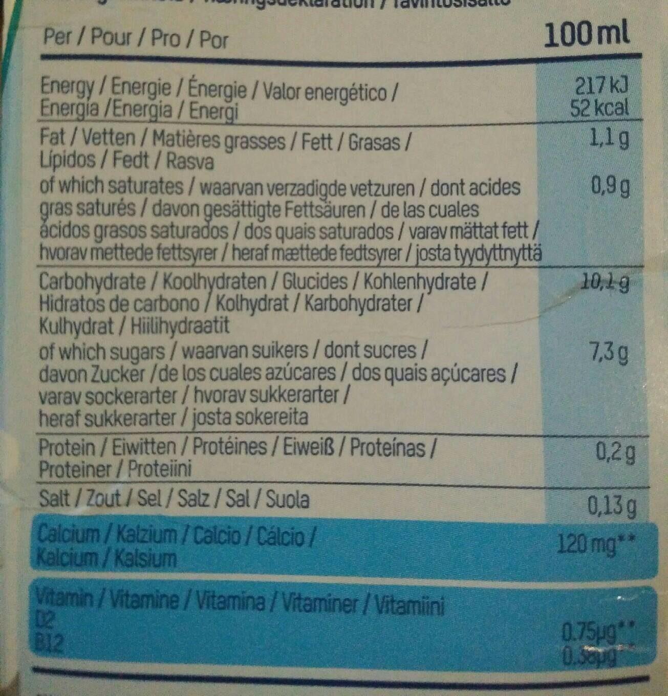Lait riz & coco (1L) - Informations nutritionnelles - fr