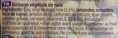 Original Boisson végétale de noix - Ingrédients - fr