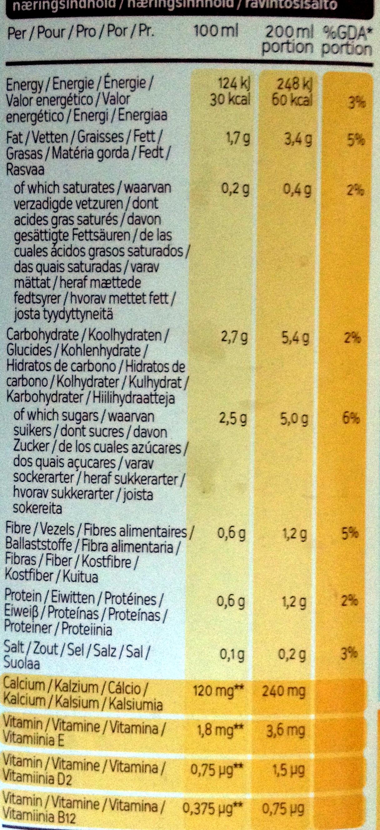 Original Boisson végétale de noix - Informations nutritionnelles - fr