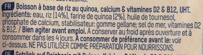 Riz Quinoa - Ingrédients - fr