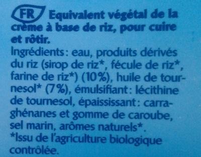 Rice Dream Cuisine - Ingredients - fr