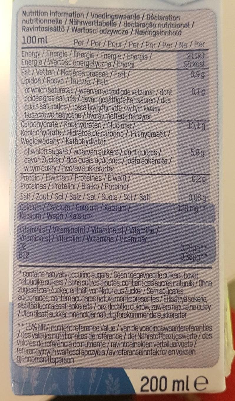 Rice Dream 3X200ML Riisijuoma Kalkkirikastettu Ja Vitaminoitu - Informations nutritionnelles - fr