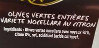 Olives - Ingrediënten