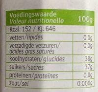 Framboos confiture Bio Jam - Voedingswaarden