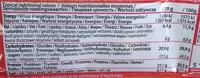 Barre Protéinée (Whey) - Informations nutritionnelles - fr