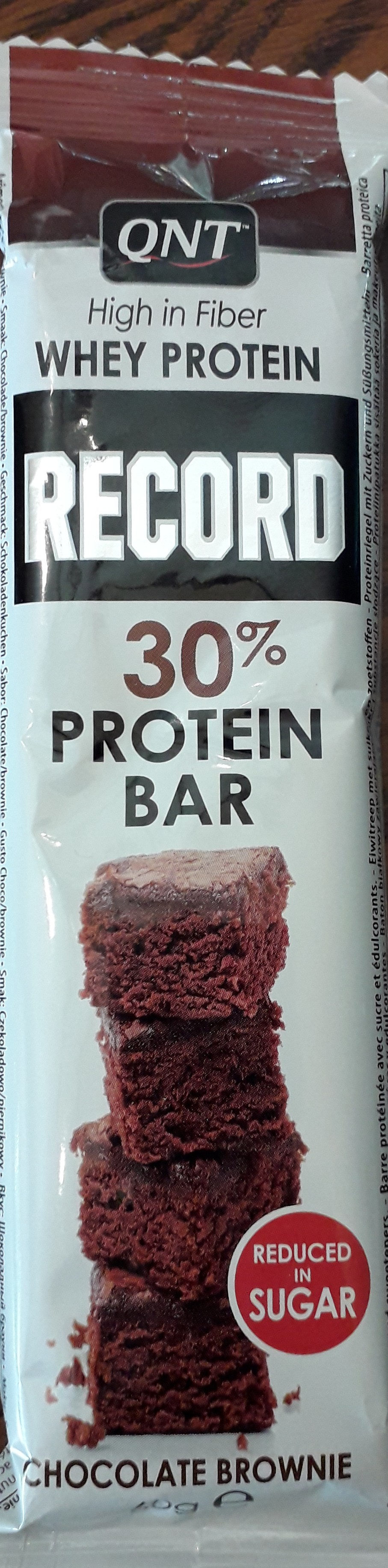 Record 30% Protein Bar Chocolate / Brownie 60GR - Product