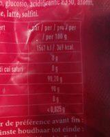 La Véritable Couille de Singe - Informations nutritionnelles - fr