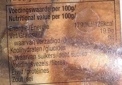 Gaufre Liégeoise à l'Épeautre - Informations nutritionnelles - fr