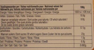Biscovit Speltwafel (D) - Informations nutritionnelles - fr