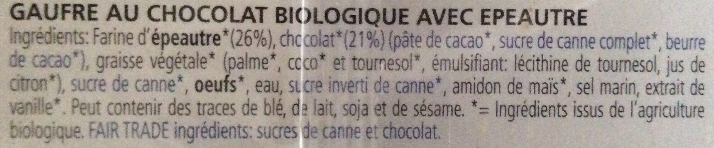 Biscovit Chocolade Wafel (D) - Ingrediënten