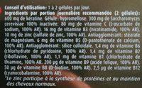 Kératine complex forme - Nutrition facts - fr