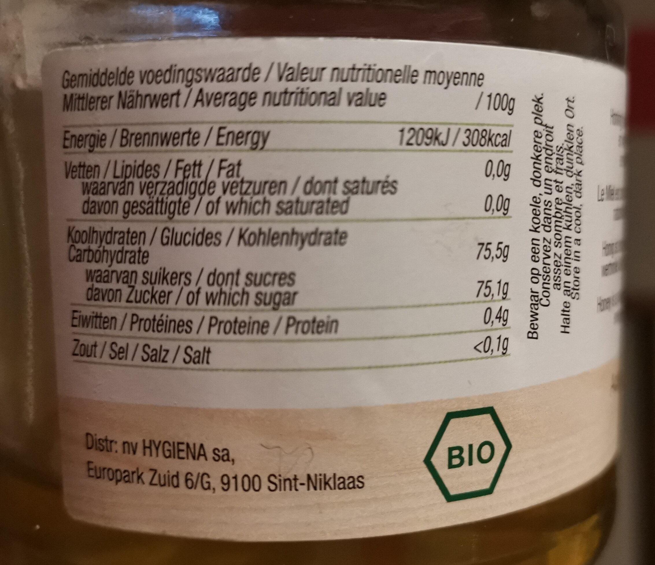 Miel d'Acacia bio - Voedingswaarden - fr