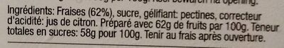 Confiture de fraises - Ingrediënten - fr