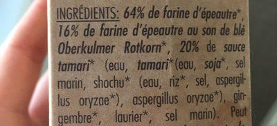 Seitan d'epeautre - Ingrédients - fr