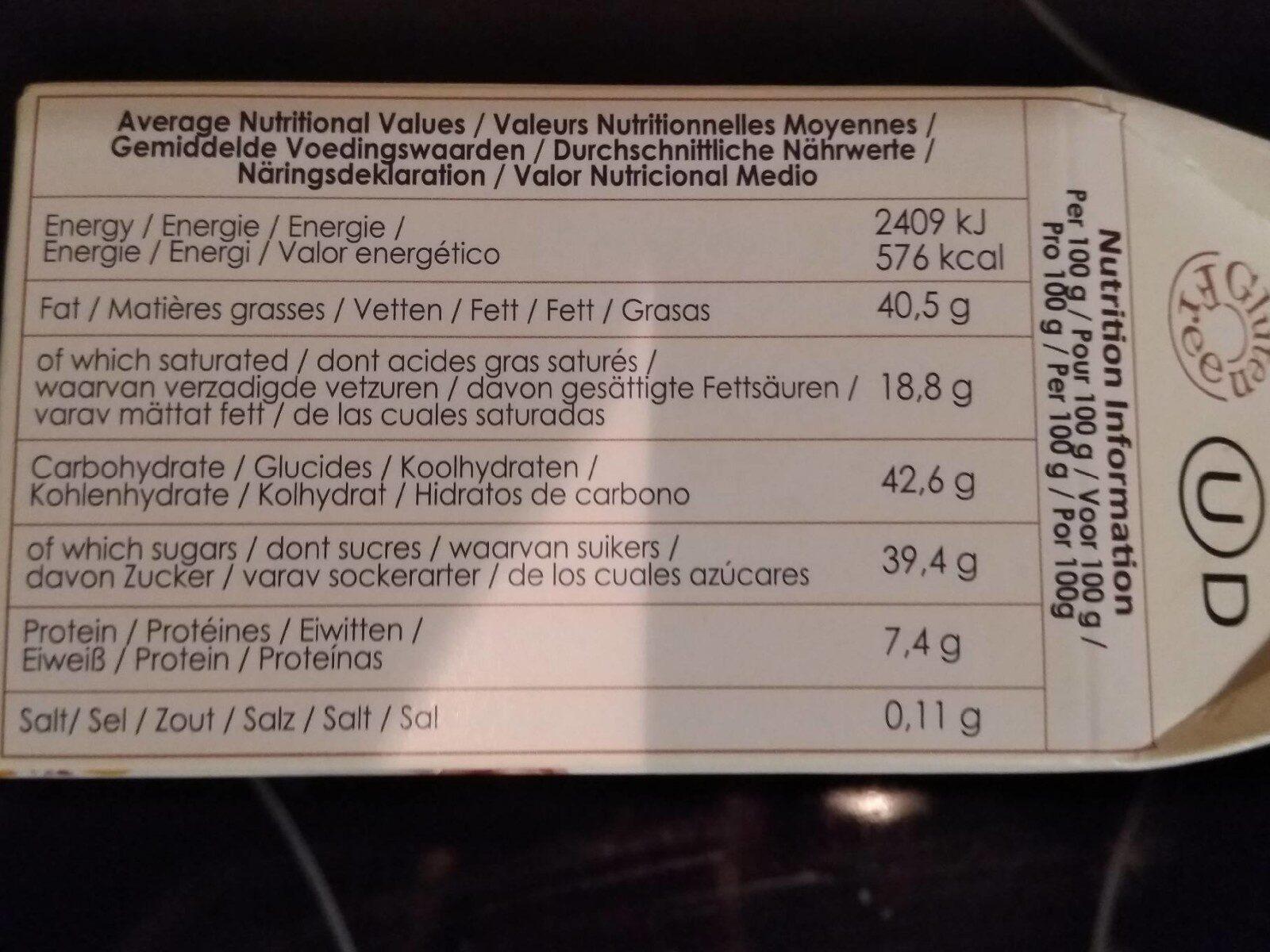 Praline Truffels - Nährwertangaben - fr