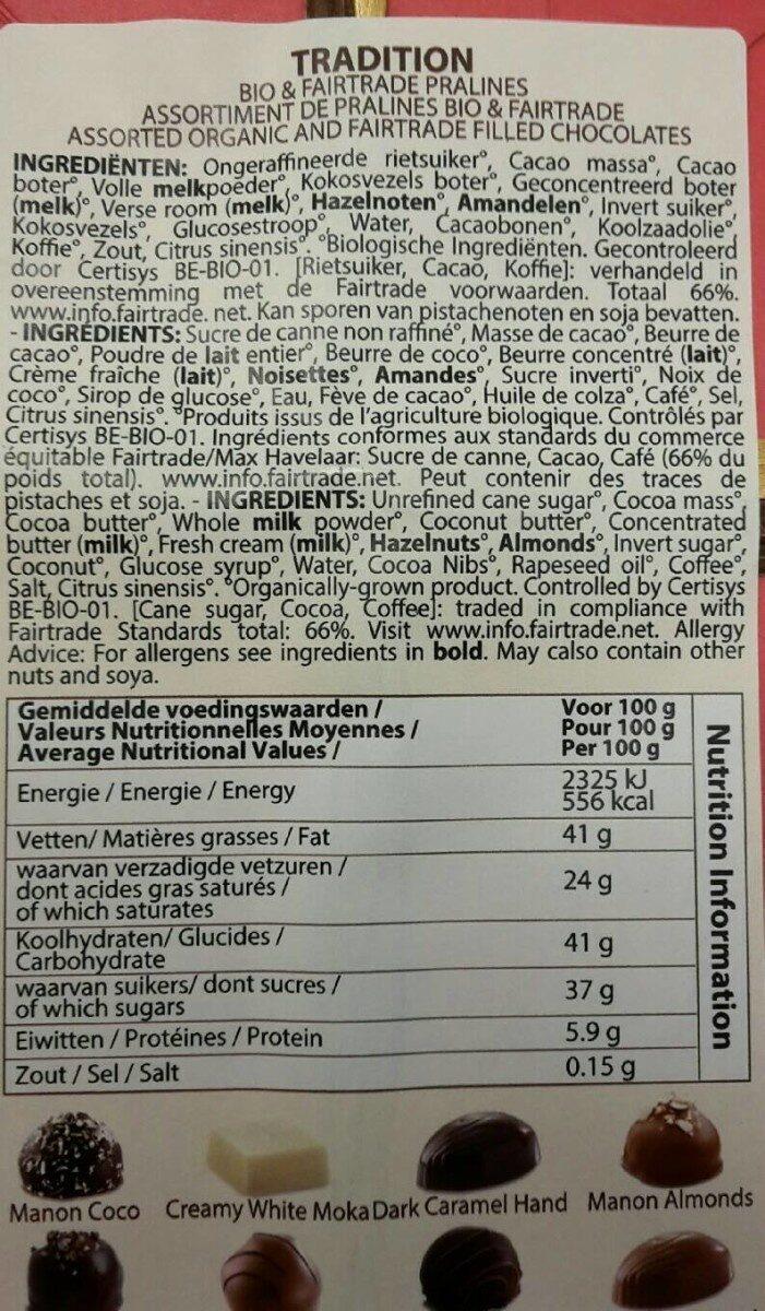 Pralines - Voedingswaarden