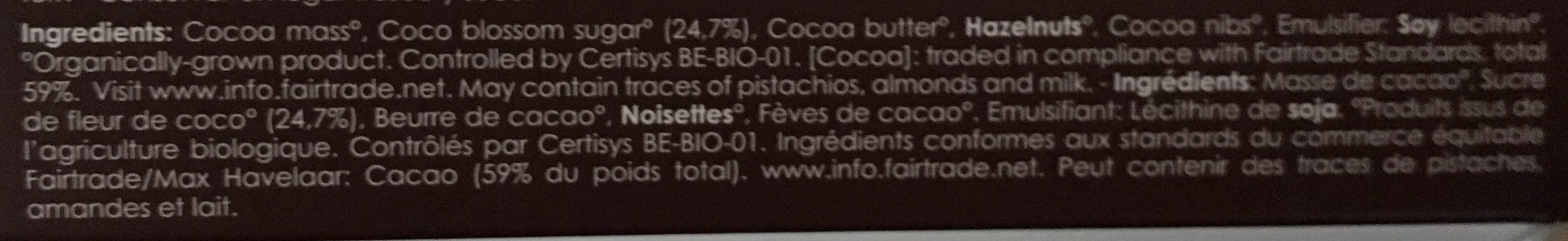 Brut de Noir 82% - Ingredients - fr